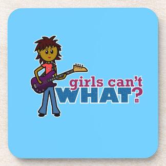 Bass Guitar Girl Coaster
