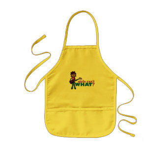 Bass Guitar Girl Kids' Apron