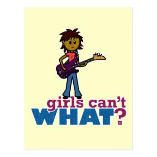 Bass Guitar Girl Post Cards