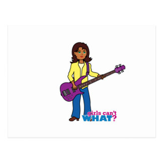 Bass Guitar Girl Postcards