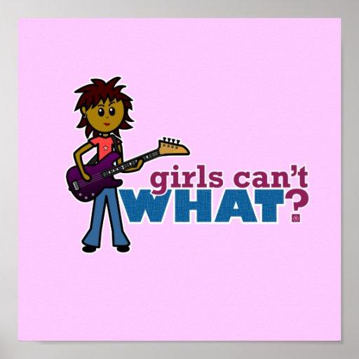 Bass Guitar Girl Poster