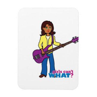 Bass Guitar Girl Vinyl Magnets