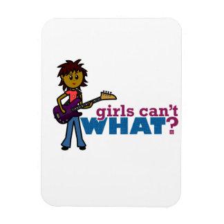 Bass Guitar Girl Magnet