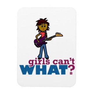 Bass Guitar Girl Magnets