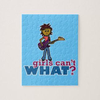 Bass Guitar Girl Jigsaw Puzzle
