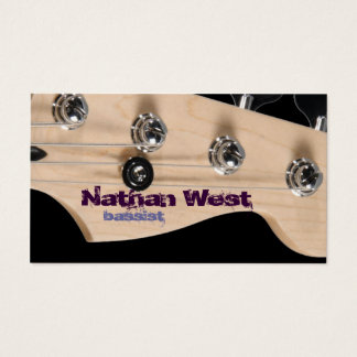 Bass Guitar Headstock With Name Business Card