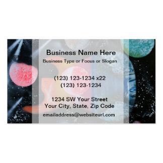 bass guitar left tropical theme spacepainting business card