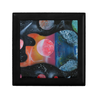 bass guitar left tropical theme spacepainting gift boxes