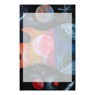 bass guitar left tropical theme spacepainting stationery