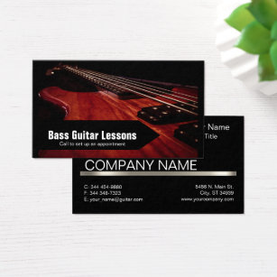 Recording artist business cards templates zazzle bass guitar lessons and music instructors business card colourmoves Choice Image
