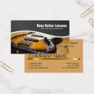 Bass Guitar Lessons And Music Instructors Business Card at Zazzle