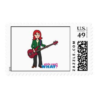 Bass Guitar Light/Red Postage