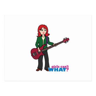 Bass Guitar Light/Red Postcard