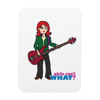 Bass Guitar Light/Red Vinyl Magnets