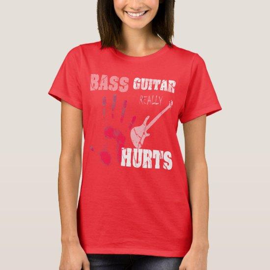 Bass Guitar Music Retro Distressed T-Shirt