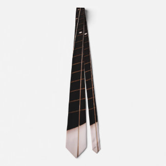Bass Guitar Neck 2-Sided Music Tie