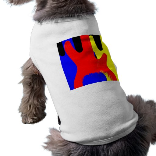 Bass Guitar Painting Abstract Bright Colours Dog T-shirt