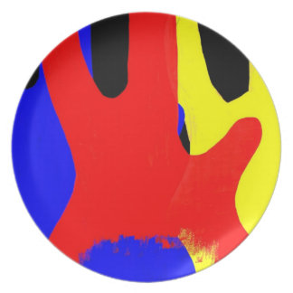 Bass Guitar Painting Abstract Bright Colours Plate