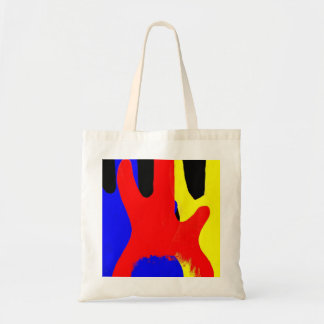 Bass Guitar Painting Abstract Bright Colours Tote Bag