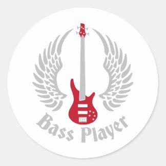bass guitar pegatina redonda
