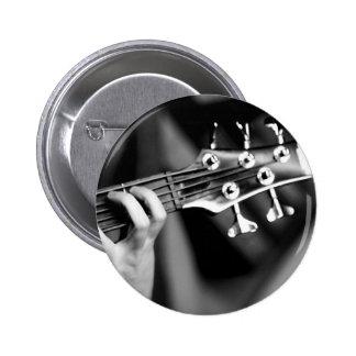 bass guitar pinback button
