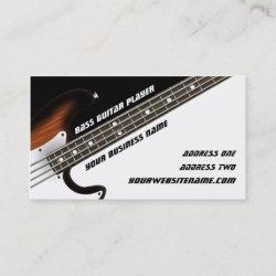 Bass Guitar Player Business Card
