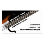 Bass Guitar Player Double-Sided Standard Business Cards (Pack Of 100)