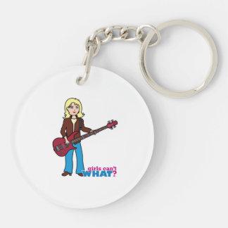 Bass Guitar Player - Light/Blonde Keychain