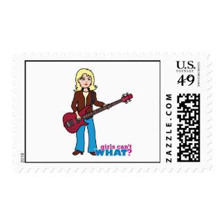 Bass Guitar Player - Light/Blonde Postage