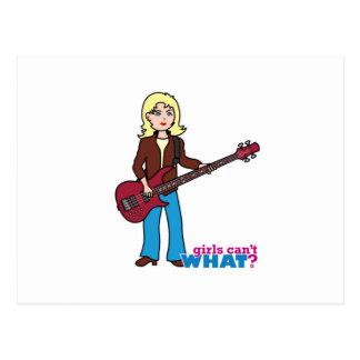 Bass Guitar Player - Light/Blonde Postcards