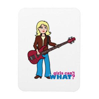 Bass Guitar Player - Light/Blonde Vinyl Magnets