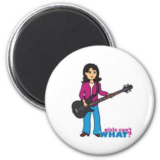 Bass Guitar Player - Medium Refrigerator Magnet