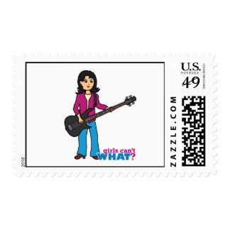 Bass Guitar Player - Medium Postage
