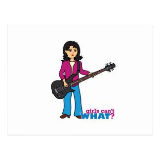 Bass Guitar Player - Medium Postcard