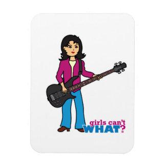 Bass Guitar Player - Medium Rectangle Magnet