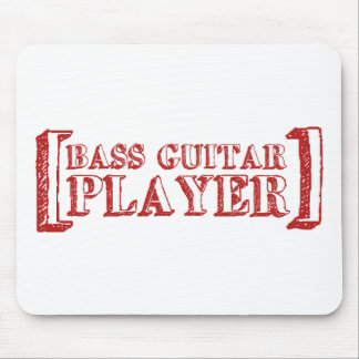 Bass Guitar  Player Mouse Pad