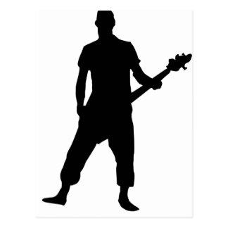 Bass Guitar Player Postcard