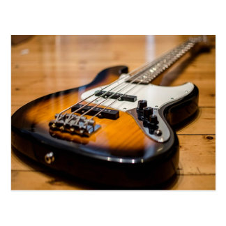 Bass Guitar Postcard