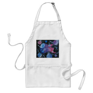 bass guitar purple pink blue planets right apron