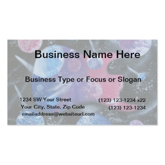 bass guitar purple pink blue planets right business cards