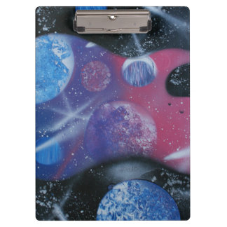 bass guitar purple pink blue planets right clipboard