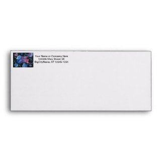 bass guitar purple pink blue planets right envelope