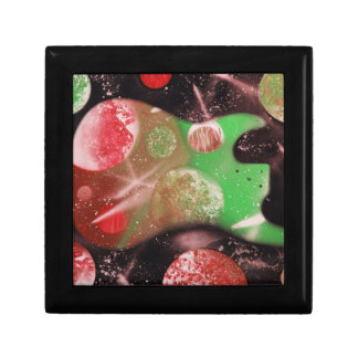 bass guitar red green planets musical spacepaintin gift boxes