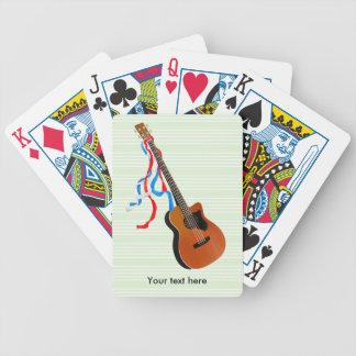 Bass Guitar Red White Blue Streamers Bicycle Playing Cards