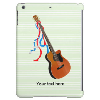 Bass Guitar Red White Blue Streamers iPad Air Cover