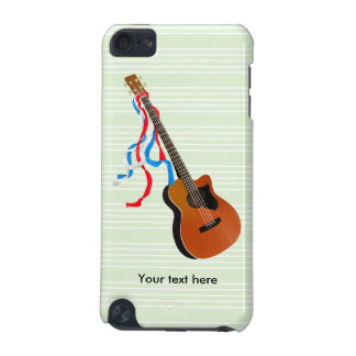 Bass Guitar Red White Blue Streamers iPod Touch 5G Cover
