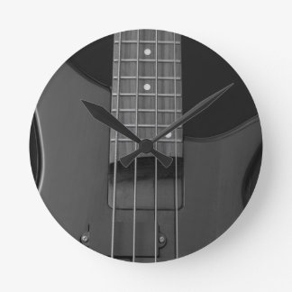 bass guitar round clock