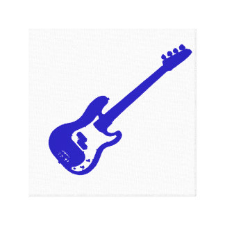 bass guitar slanted blue graphic.png canvas print