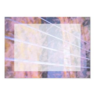 Bass guitar strings pickups grunge tiger eye 5x7 paper invitation card