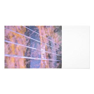 Bass guitar strings pickups grunge tiger eye photo card
